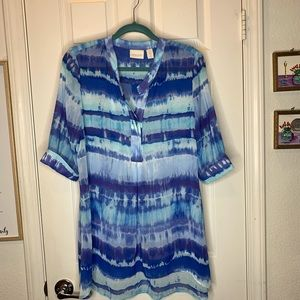 Woman's Chicos top shirt blouse size 8 medium